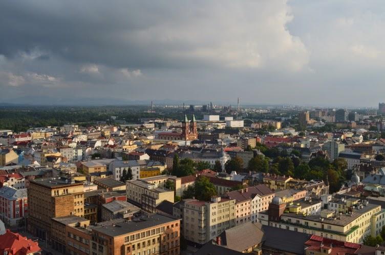 Ostrava, výhled, radnce, město