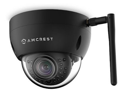 Amcrest ProHD Fixed Outdoor 3-Megapixel (2304 x 1296P) Wi-Fi Vandal Dome IP Security Camera - IP67 Weatherproof, IK10 Vandal-Proof, 3MP (1080P/1296P), IP3M-956B (Black) (Renewed)