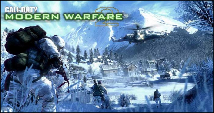 A Call of Duty Modern Warfare 3 character wears a white jacket in snowy mountains