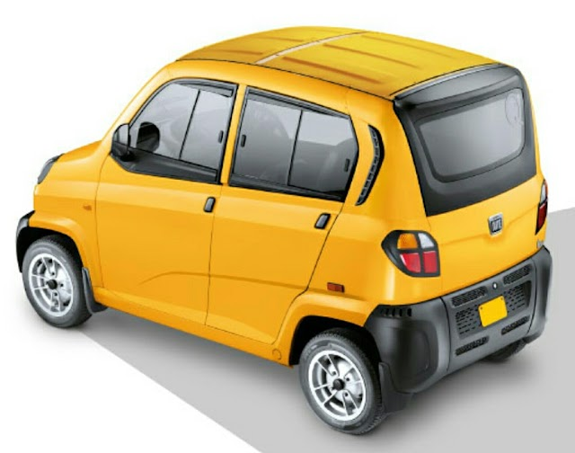 Uber and Bajaj has patnership with new Qute taxi.