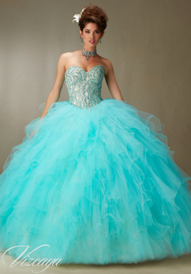 propuestas de Vestidos de 15 Años Azul Turquesa