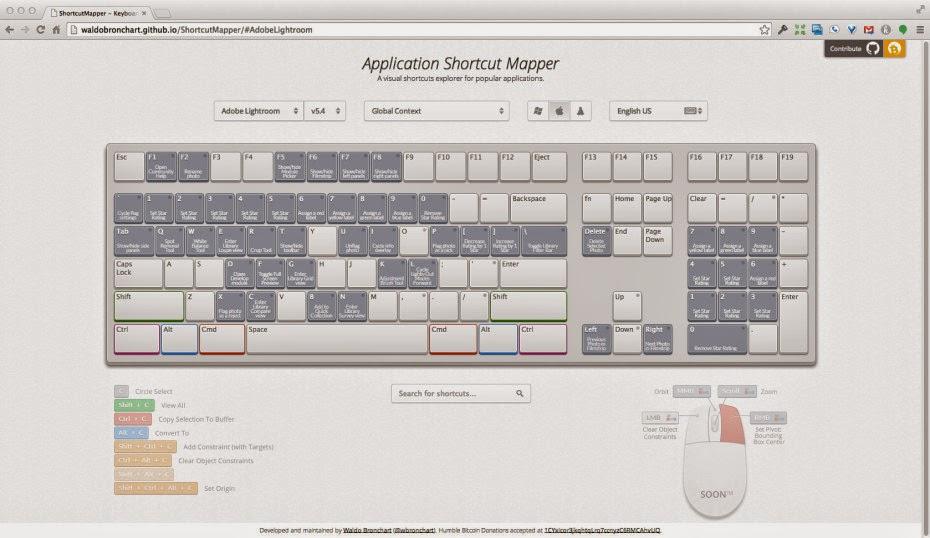 App Interactiva con los atajos de teclado para diferentes aplicaciones