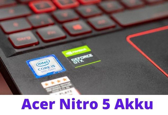Acer Nitro 5 Design and processing