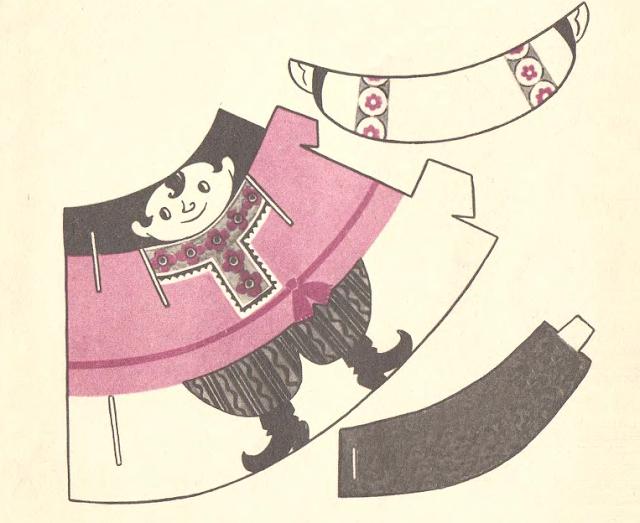 кукла из бумаги своими руками