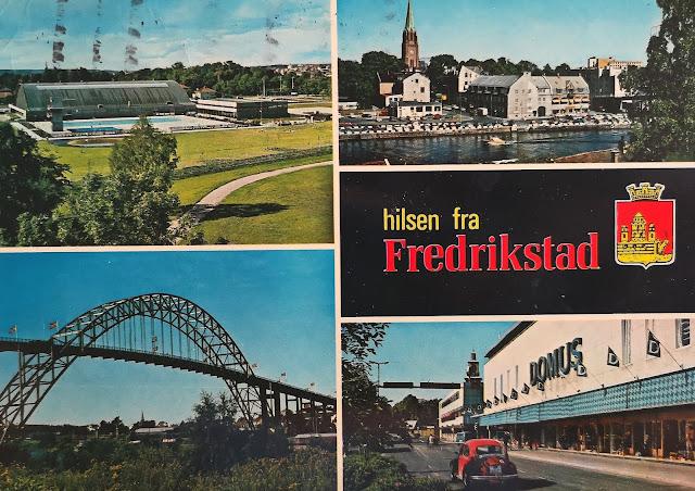 Fredrickstad in Norvegia, cartolina del 1979