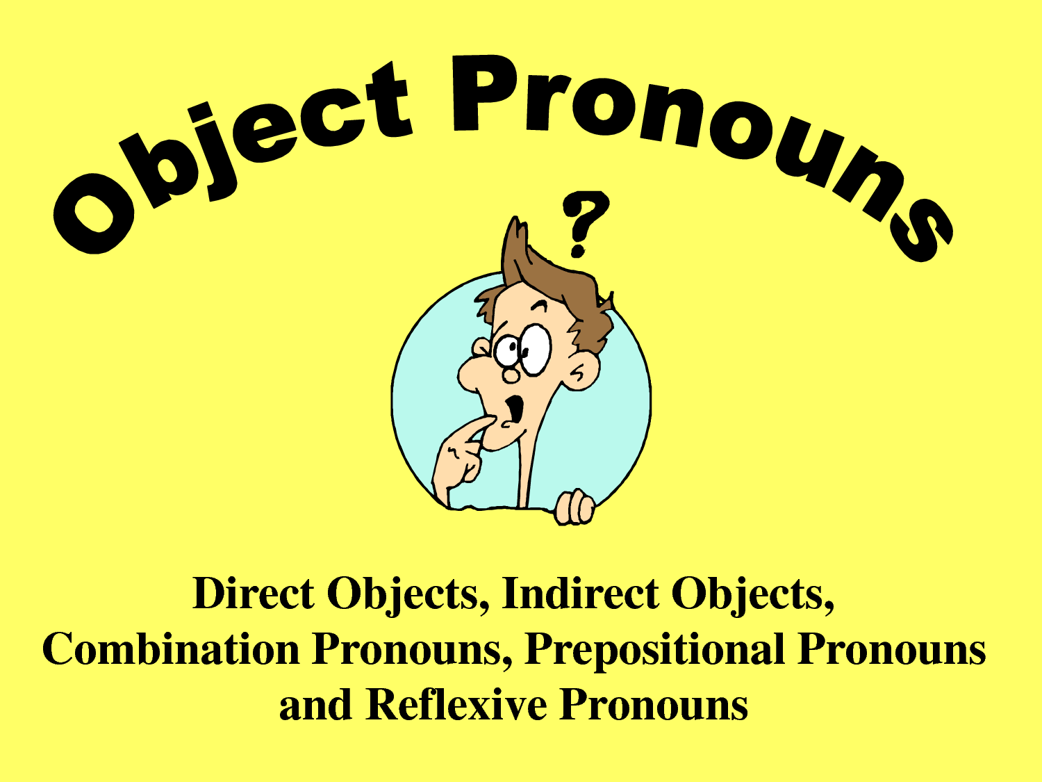 Direct And Indirect Object Exercises