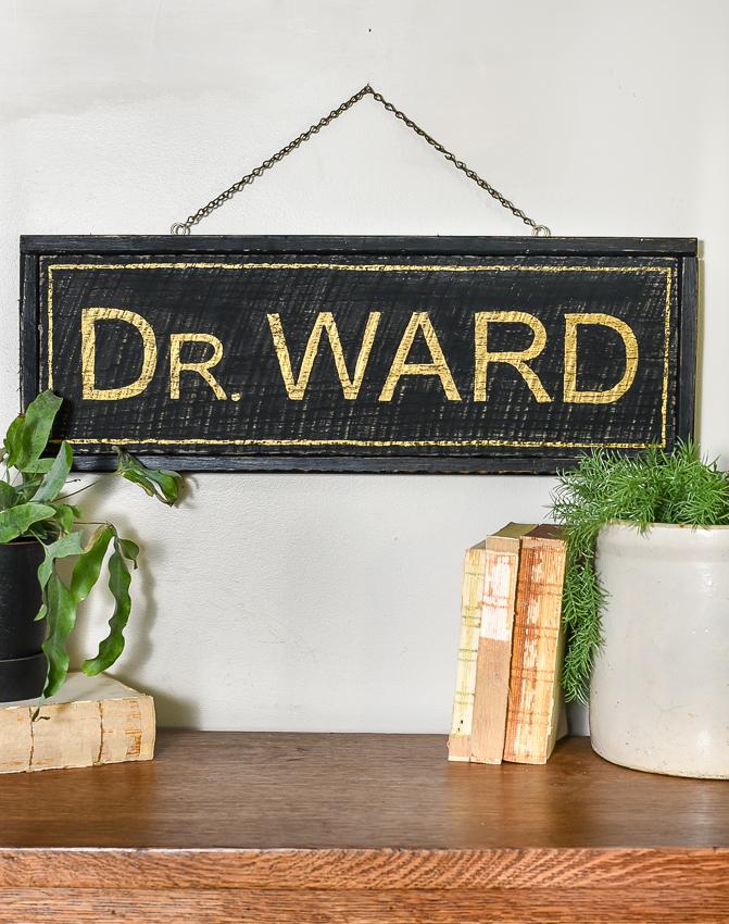Diy vintage wood sign