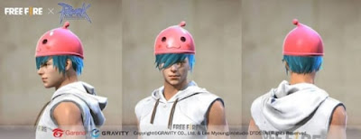 Free fire character is wearing the latest Poring Hat