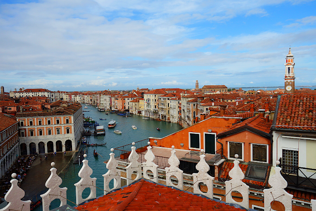 To jste ještě neviděli. Dechberoucí výhled na Benátky, Fondaco dei Tedeschi, výhled na Benátky, co vidět v Benátkách, kam v Benátkách, Rialto, Rialto most, i