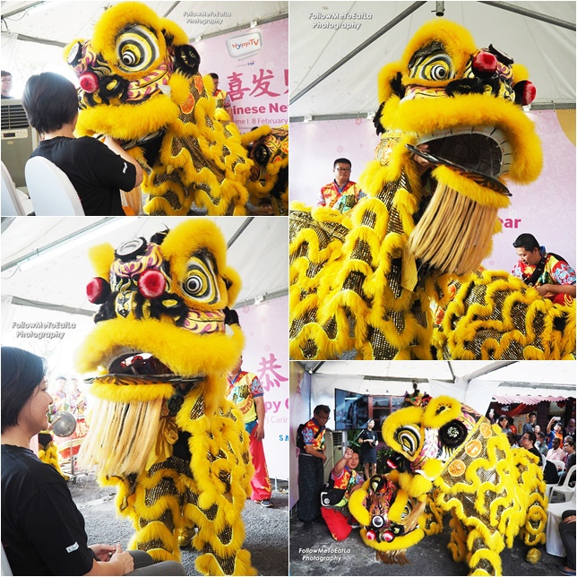Much Excitement During The Lion Dance Performance
