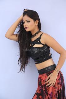 Shriya Vyas in a Tight Backless Sleeveless Crop top and Skirt 69.JPG