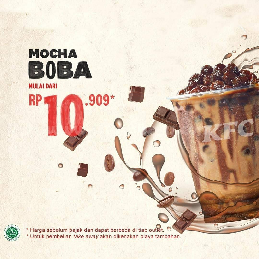 KFC Promo MOCHA BOBA & Mocha Boba FLOAT! Harga mulai dari Rp. 10.909