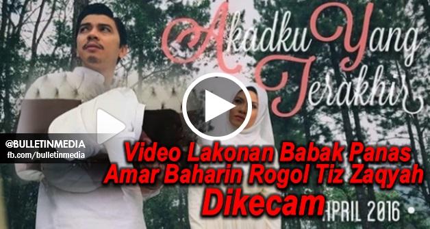 Video Lakonan Babak Panas Amar Baharin Rogol Tiz Zaqyah Dalam Drama Akadku Yang Terakhir Dikecam