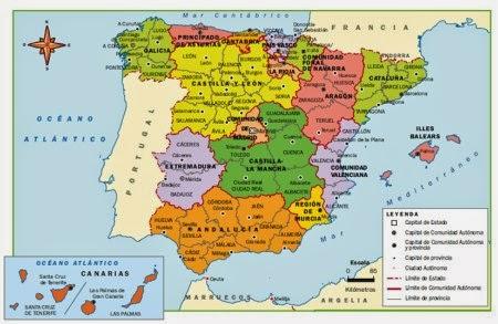 Blog De Aula Estructura Territorial Del Estado Español