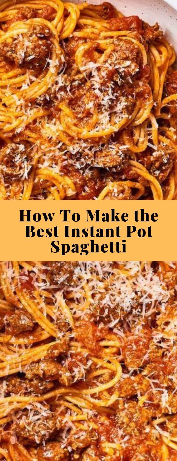 How To Make the Best Instant Pot Spaghetti #instantpot #spaghetti
