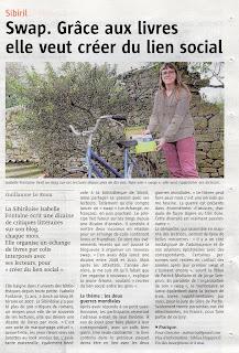swap article télégramme Isabelle Fontaine Bibliza lecture Sibiril