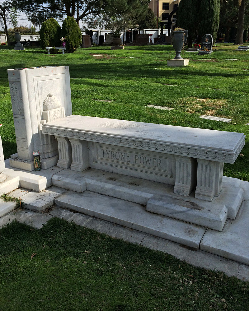 Grave of Tyrone Power at Hollywood Forever