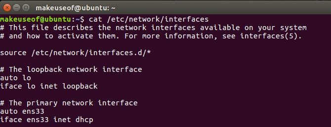cambiar ip linux interfaces