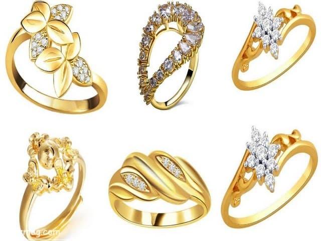 خواتم ذهب رقيقه جدا 8 | Simple gold rings 8