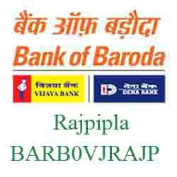 Vijaya Baroda Bank Rajpipla Branch New IFSC, MICR