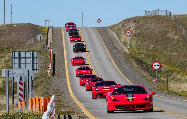 Ferrari Club Chile evento en La Patagonia