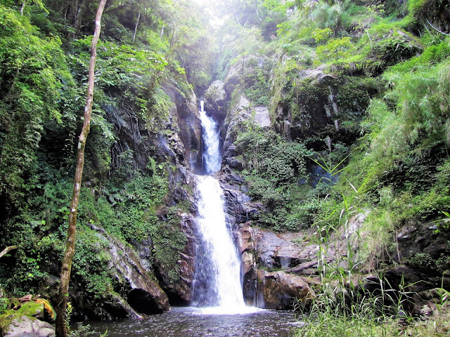 waterfall nam et phou louey national protected area laos