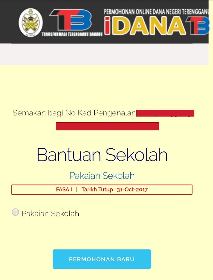 Dana Bantuan Persekolahan Sesi 2018 Untuk Rakyat Terengganu