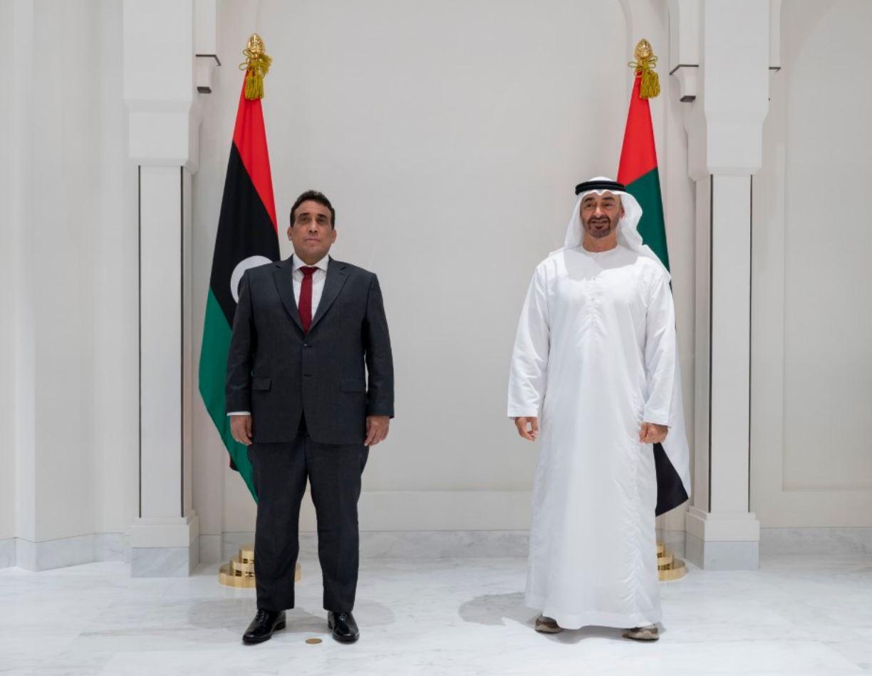 محمد بن زايد: ندعم ليبيا الشقيقة لتحقيق تطلعات شعبها نحو الاستقرار والتنمية والوحدة