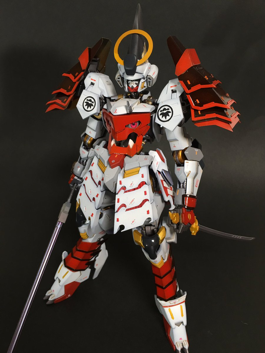 gundam guy 1 100 yoshitsune gundam barbatos custom build. Black Bedroom Furniture Sets. Home Design Ideas