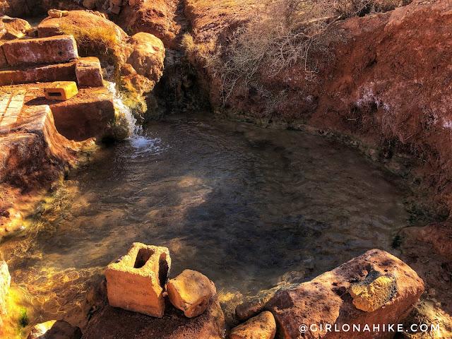 Soaking at Red Hill Hot Springs, Utah
