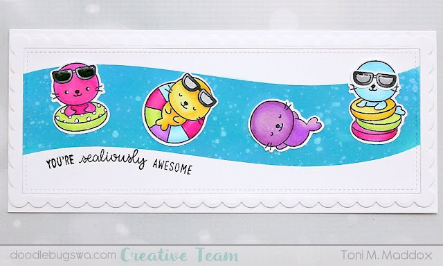 Sunny Studio Stamps: Sealiously Sweet Customer Card by Toni Maddox