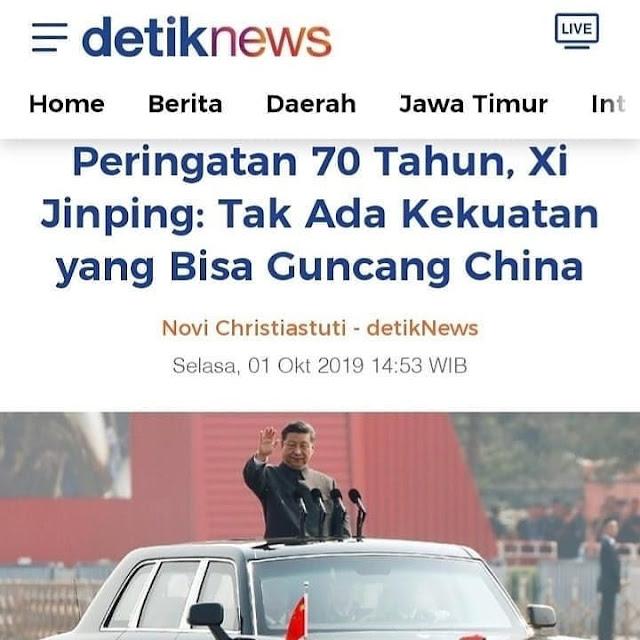 Kesombongan Presiden Cina