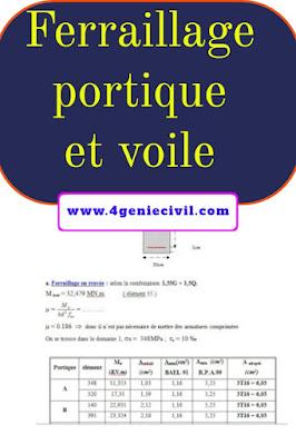 Cours ferraillage portique et voile - pdf et doc