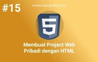 membuat projek di html