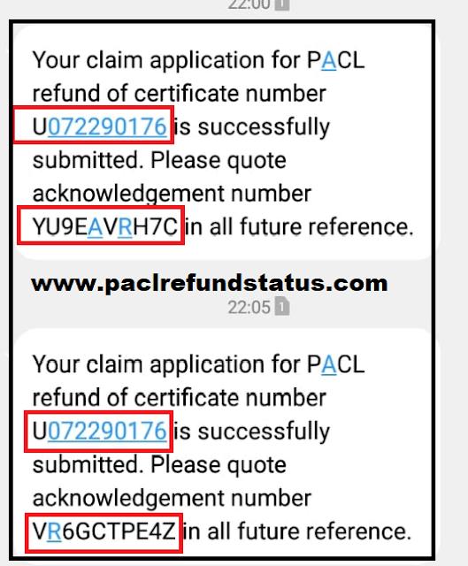 pacl online refund status 2019