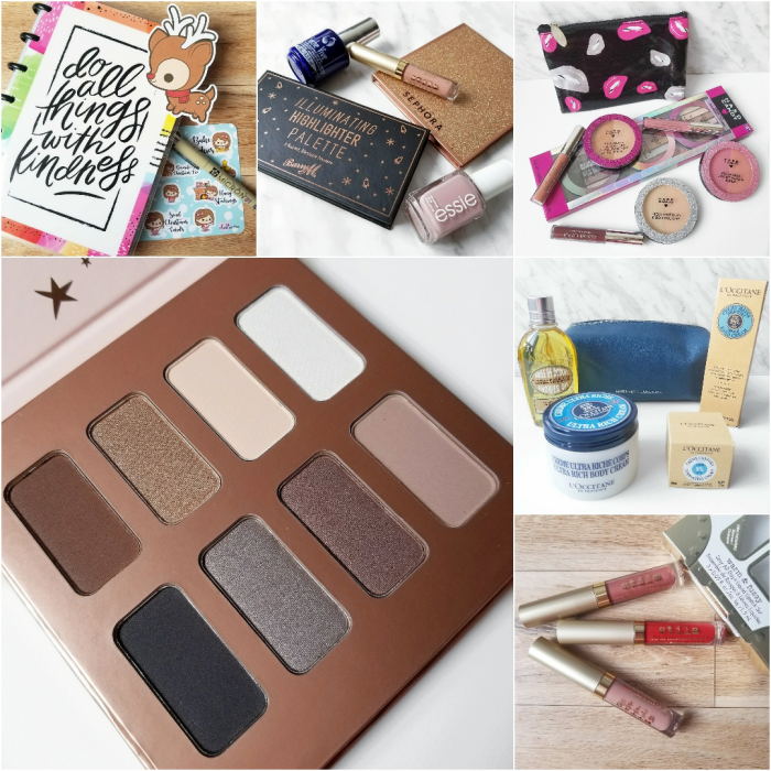 bbloggers, bbloggersca, canadian beauty bloggers, beauty blog, instamonth, roundup, lifestyle blog, mini happy planner, monthly favorites, barry m, sephora, sephora collection, winter magic palette, stila, seche vive, essie, hard candy, holiday 2017, loccitane, l'occitane, warm and fuzzy set, christmas