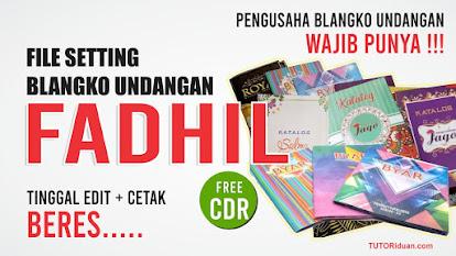 Settingan Blangko Undangan FADHIL CDR