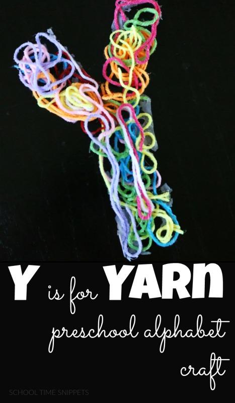Letter Y Craft - y is for yarn alphabet craft