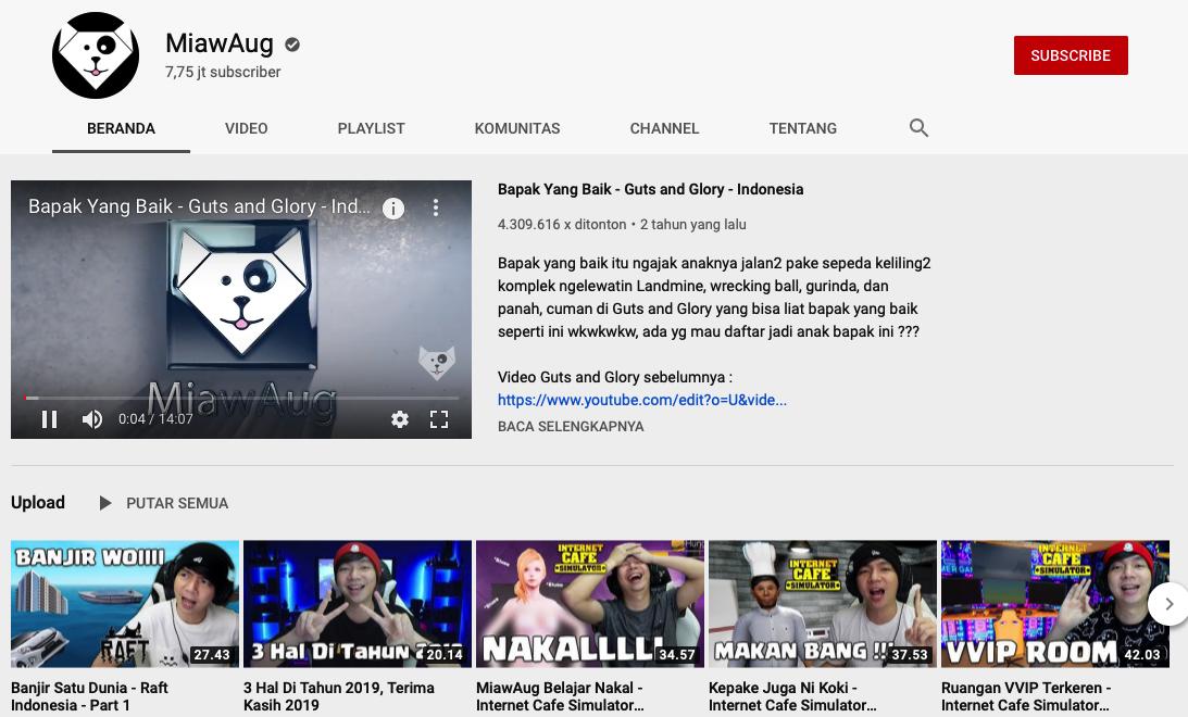 Reggy Prabowo Youtuber gaming kaya