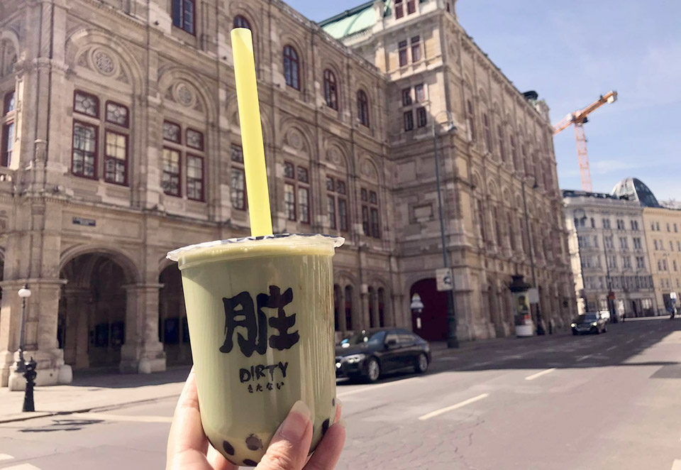 Bubble Tea Mania Returns, bubble tea matcha, Vienna Operahouse