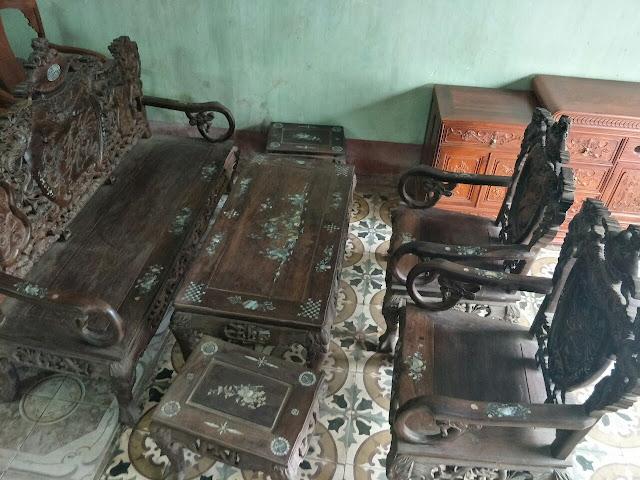 bán bộ bàn ghế gỗ trắc cũ