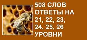 508 слов все ответы на 21, 22, 23, 24, 25, 26 уровни в картинках