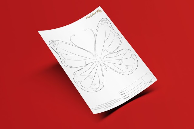 Free Printable Butterfly Template Coloriage Outline Blank Coloring Page pdf For Kids Pictures To Print Out Fun Colouring Pages Kindergarten Preschool Toddler sheet1