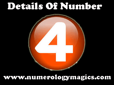 details of number 4 by numerologist