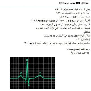 تفريغ للأستاذ الدكتور محمود علام فى ECG رسم القلب