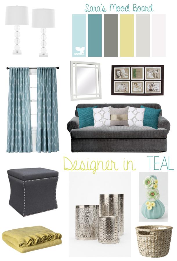 Designer In Teal Sara S Mood Board