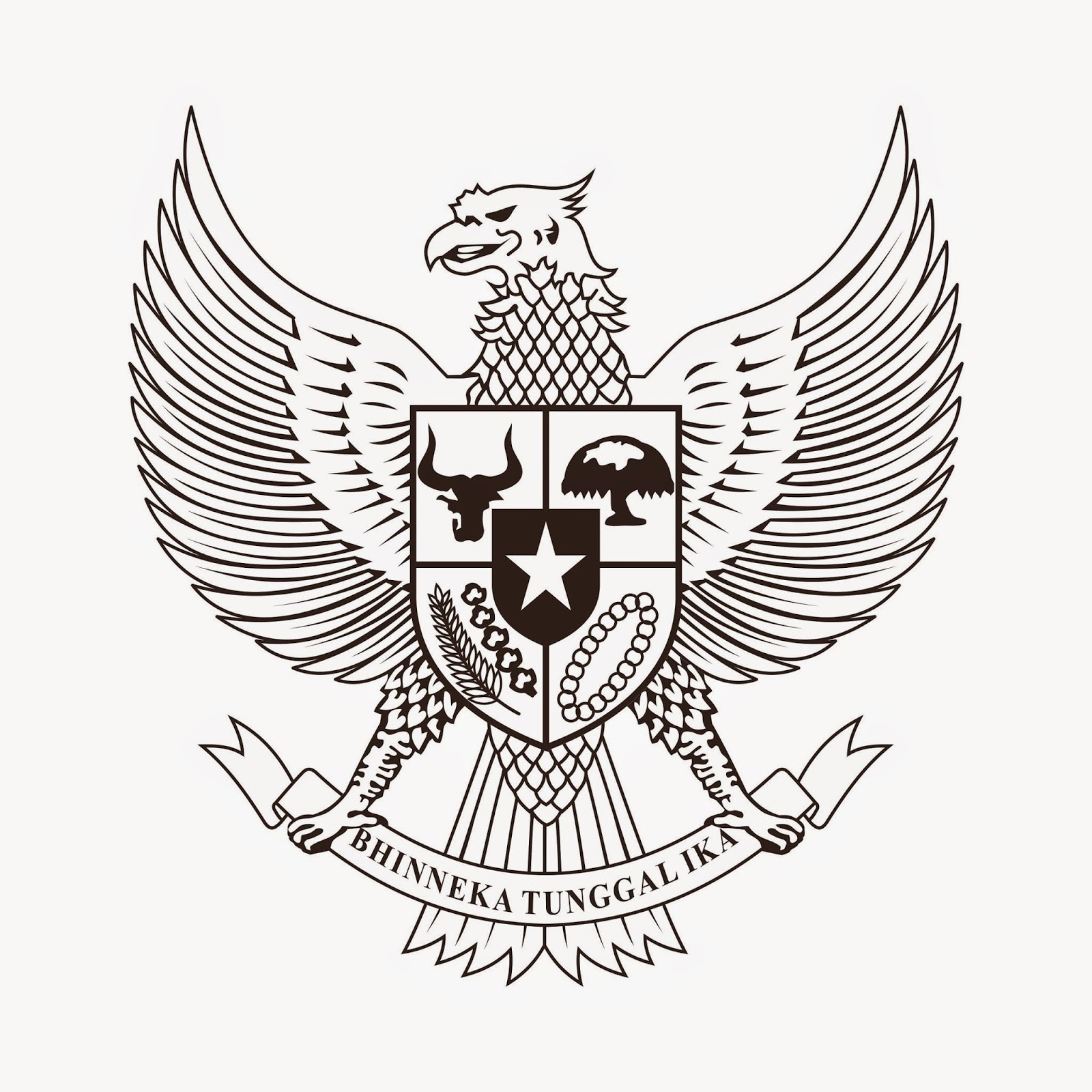 first image of Gambar Burung Garuda Pancasila Untuk Mewarnai with Mewarnai Lambang Pancasila - Warna Key