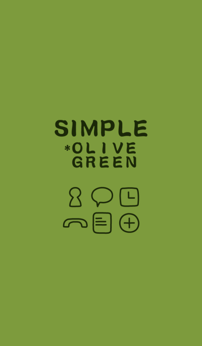 SIMPLE*olive green*