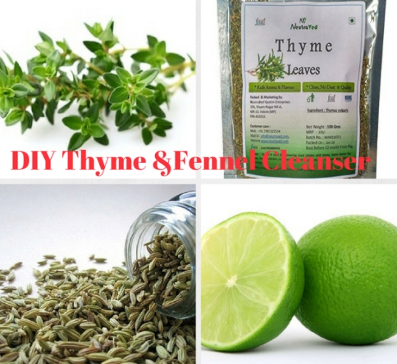 DIY Thyme & Fennel Seed Cleanser