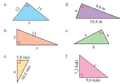 Soal dan Jawaban Ayo Berlatih 6.1 Pythagoras Kelas 8